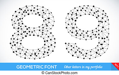 Geometric type font Vector illustration for your design