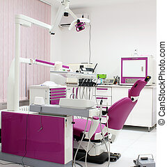 dentist office with equipment interior