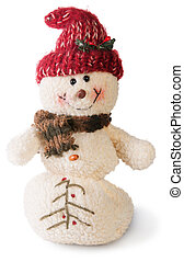 Plush snowmen - Smiling snowman toy dressed in scarf and cap...