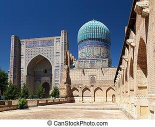 View from Bibi-Khanym mosque - Registan - Samarkand -...