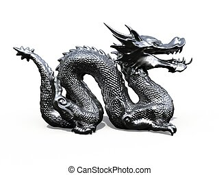 Dragon Stature iron - Digital 3D rendered by dragon stature...