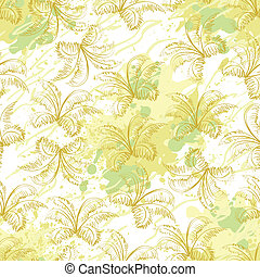 Seamless pattern, contour plants