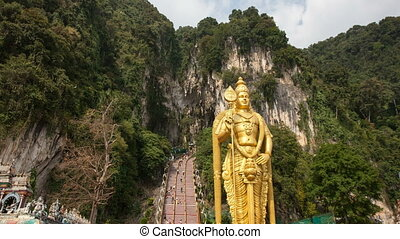 Lord Murugan Statue at Batu Caves - Lord Murugan Hindu Deity...