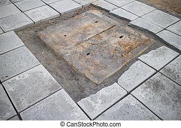 Sidewalk repair.