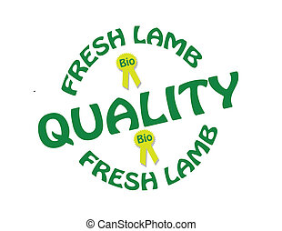 Fresh lamb - Stamp with text fresh lamb inside, vector...