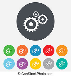 Cog settings sign icon Cogwheel gear symbol - Cog settings...