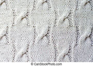 Detail of woven handicraft knit sweater - Detail of woven...