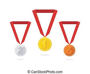 Three vector medals