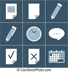 organizer  icon set