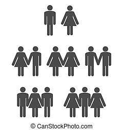 Gender symbol 2 - Gender symbol icons 2 Graphic vector...