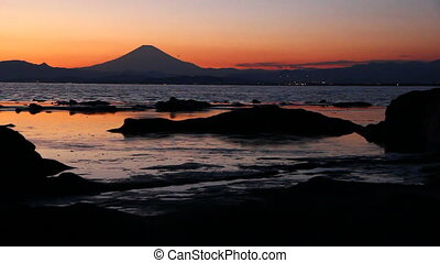 Mount Fuji view from Enoshima, Japan