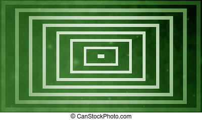 Abstract lines on green