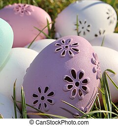 Easter - pastel colors eggs for Easter