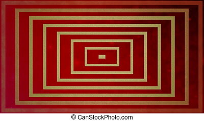 Abstract lines on vintage red