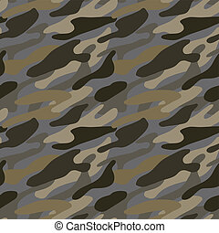Seamless military pattern in vector