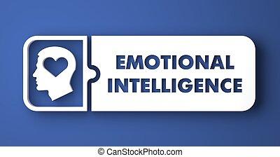 estilo, plano, diseño, emocional, inteligencia