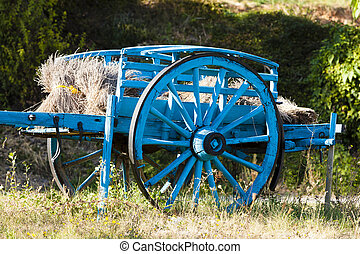 cart with lavenders, Provence, France