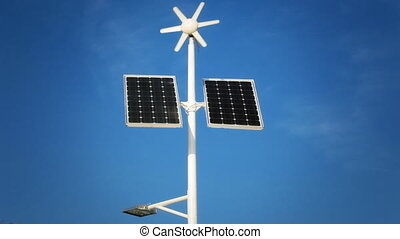 Street lighting with solar panels