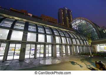 Taipei MRT station Daan Park Station - the new MRT station...