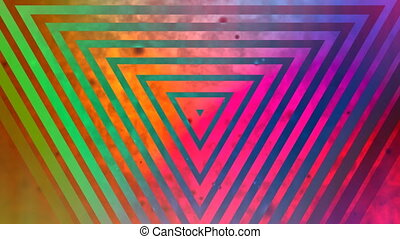 Abstract multicolored triangle