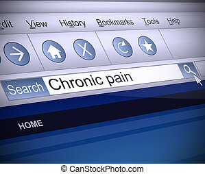 Chronic pain concept - Illustration depicting a screenshot...