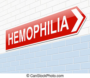 Hemophilia concept. - Illustration depicting a sign with a...