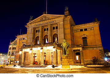 National theater Oslo - National theatre in Oslo at winter...