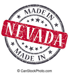 made in Nevada red round grunge isolated stamp