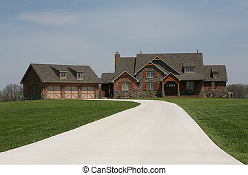 country home - an image of a beautiful country style home