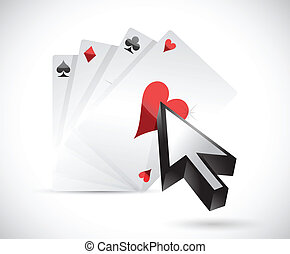 cards and cursor illustration design over a white background...