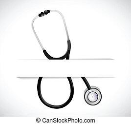 stethoscope on a pocket. illustration design