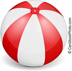 Beach Ball - Beach ball on white backgronud, vector eps10...