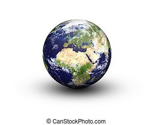 Earth Globe - Europe and Africa