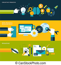 Flat design concepts for design - Set of flat design vector...