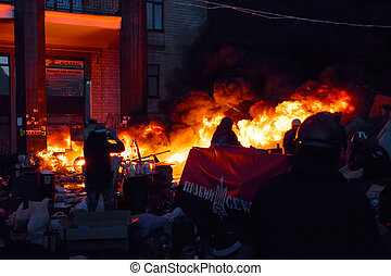 Euromaidan - February 18, 2014 - Anti-government protests in...