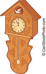 wooden cuckoo clock bird wall clock