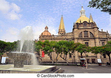 Guadalajara cathedral, Jalisco Mexico - The old cathedral...