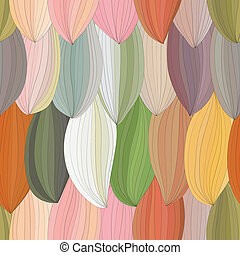 abstract petals with contour pattern. seamless background