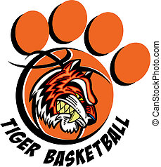 tiger basketball paw print