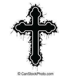 Orthodox cross - Illustration Orthodox cross on a white...