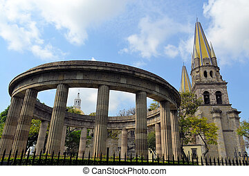 Guadalajara cathedral, Jalisco (Mexico) - The old cathedral...