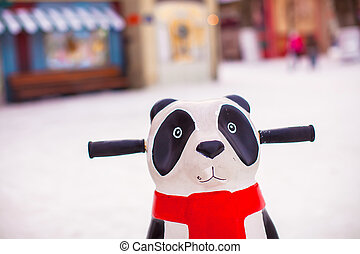 Panda for helping little skaters to teach skate on ice
