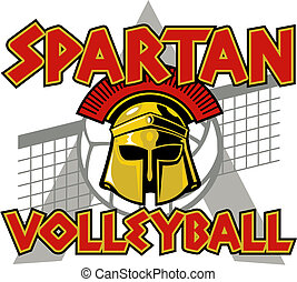 spartan volleyball design