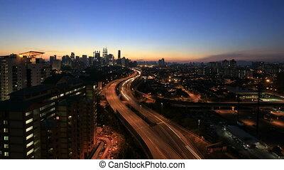 Kuala Lumpur Freeway Traffic - Ampang Kuala Lumpur Elevated...