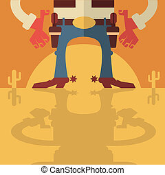 Cowboy with guns background