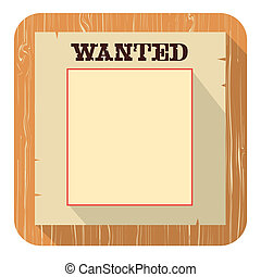 Wanted poster iconVector flat style design - Wanted poster...