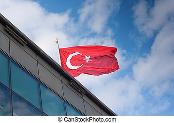Turkey flag: the red is a predominant color in Turkish history