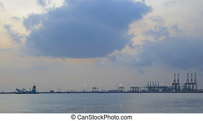 Port of Singapore Time Lapse 1080p - Port of Singapore from...