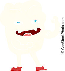 cartoon strong healthy tooth
