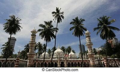 Jamek Mosque in Kuala Lumpur 1080p